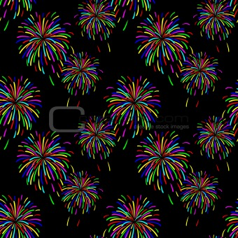 Abstract vector illustration of fireworks