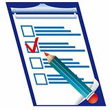 Pensil and checklist
