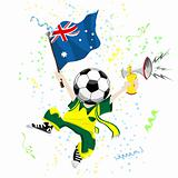 Australia Soccer Fan with Ball Head