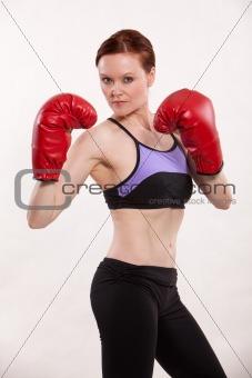 Attractive thirties caucasian brunette woman exercising