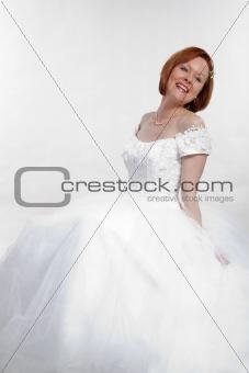 Attractive caucasian brunette thirties woman