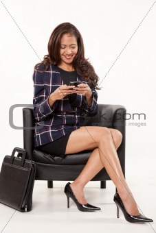 Attractive female asian businesswoman