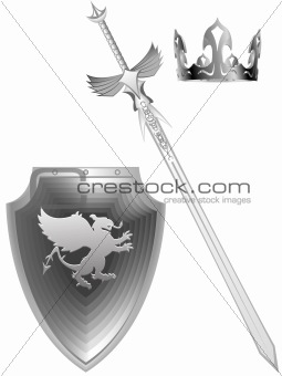Knightly fantasy sword