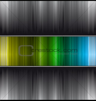 Abstract business Card with colorful stripes with gradient