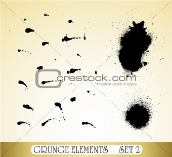 Grunge Drops Elements