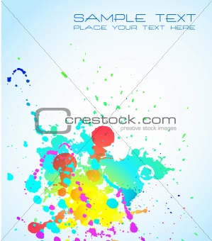 Artistic Background with grunge drops of liquid