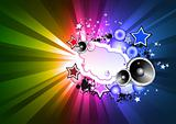 RAinbow Colorful Disco Background for Flyers