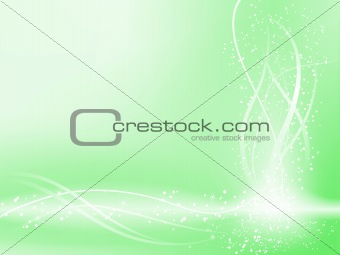 Green Beautiful Pastel Background with stars and swirls.