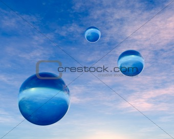 Crystal Blue Orbs