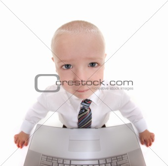 Abstract Child Working on a Computer