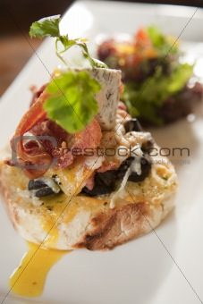 Snail open sandwich