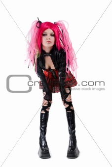 Attractive cyber gothic girl
