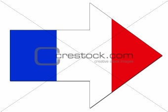French flag arrow