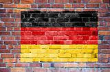 German flag painted on wall