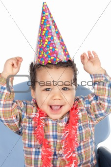 Adorable baby celebrating the birthday