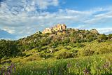 Beautiful landscape with a castle on a hill