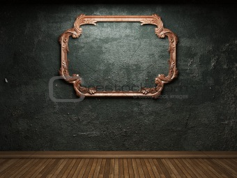 old concrete wall and frame