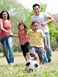 Happy family run