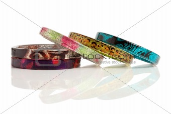 bracelets isolated on white background