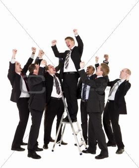 Group of happy businessmen