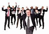 Happy businessmen