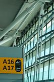 panel of airport gate