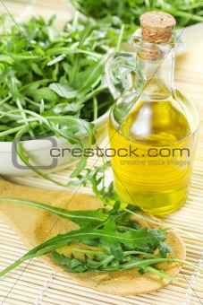 Green Rucola Leaves