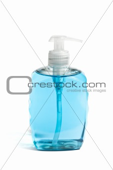 Liquid Soap in Blue Bottle