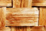 Woven wooden background