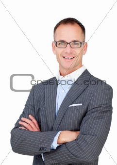 Attractive mature businessman wearing glasses
