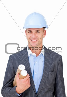 Portrait of a confident male architect