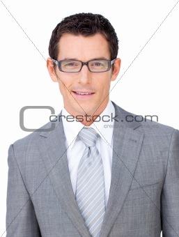 Charismatic businessman wearing glasses