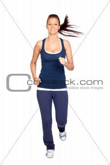 Attractive girl running