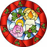 Christmas stained glass decoration