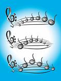Music color symbols illustration