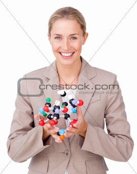 Young attractive Business woman confidently