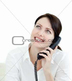 Atractive businesswoman on phone