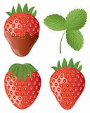 Isolated image of a strawberry