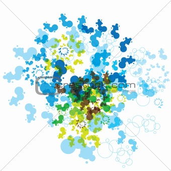 Abstract fractal modern background