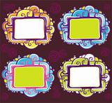 Vector set of cool design retro frames