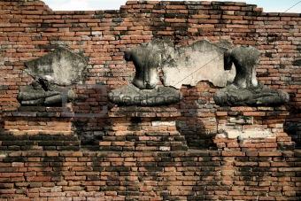 Ayuthaya buddha wall