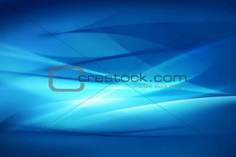 Abstract blue background, wave or veil texture