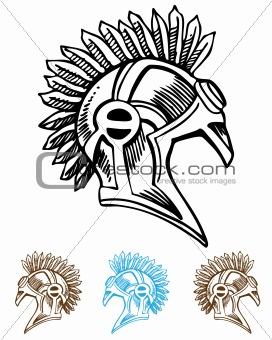 Mohawk Helmet
