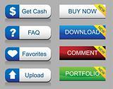 Website Glossy Button Set