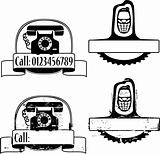 Rubber stamp with phone
