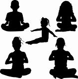Silhouette child's yoga