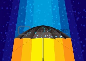 Abstract rain umbrella