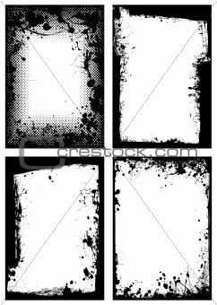 grunge border collection