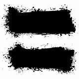 ink black grunge banner