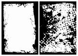 ink grunge black splat border